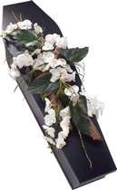 White Orchid Casket Spray.