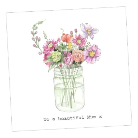 Jar of flowers Mother's Day card