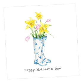 Wellies Mother's Day Card