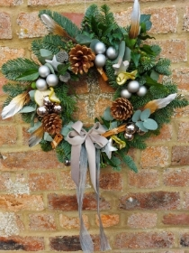 Door Wreath   'The Silver and Grey One'