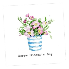 Mother's Day Card 'blue an white vase'